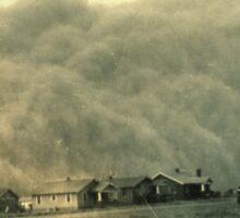 Texas Dust Storm Sticker