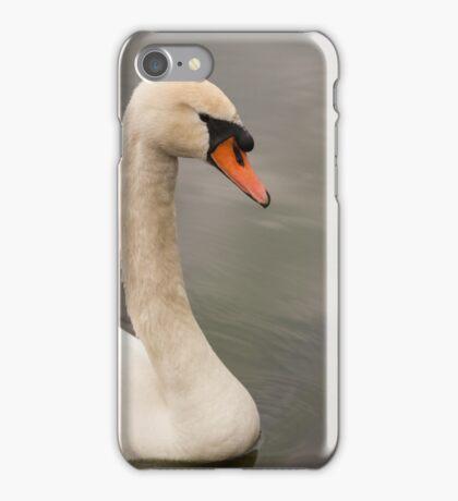 swan on the lake iPhone Case/Skin