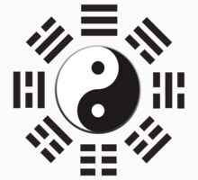 Yin & Yang I Ching; Pure & simple BLACK by TOM HILL - Designer