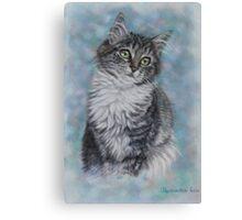 Cute Cat Art - Sweet Kitten Portrait Canvas Print