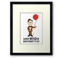 A Doctor Who themed Birthday Card Framed Print
