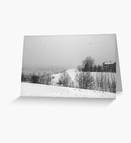 Snowstorm January 2014 Greeting Card