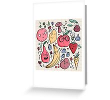 Fruits are friends Greeting Card