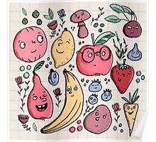 Fruits are friends Poster
