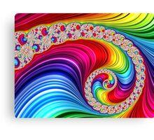 Rainbow Spiral Canvas Print