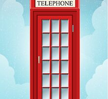 Red English Telephone Box by aurielaki