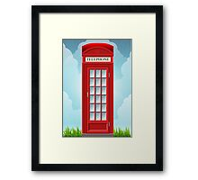 Red English Telephone Box Framed Print