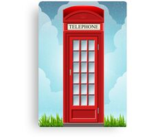 Red English Telephone Box Canvas Print