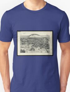 Vintage Pictorial Map of Edgartown MA (1886) T-Shirt