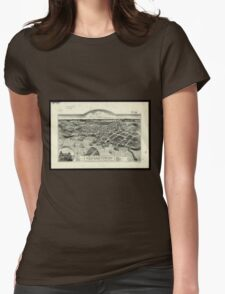 Vintage Pictorial Map of Edgartown MA (1886) Womens Fitted T-Shirt