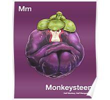 Mm - Monkeysteen // Half Monkey, Half Mangosteen Poster
