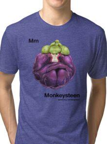 Mm - Monkeysteen // Half Monkey, Half Mangosteen Tri-blend T-Shirt