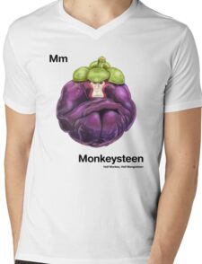 Mm - Monkeysteen // Half Monkey, Half Mangosteen Mens V-Neck T-Shirt