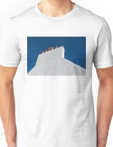 Simplicity - White Stucco Wall and Chimneys Unisex T-Shirt