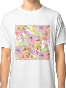 Pretty hand drawn autumn flowers Classic T-Shirt