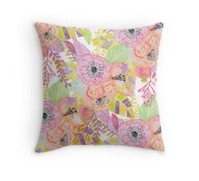 Pretty hand drawn autumn flowers Throw Pillow