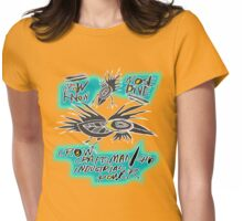 crow fly Womens Fitted T-Shirt