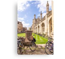 Bike parking with a view: King's College, Cambridge Canvas Print