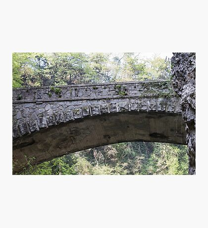 old bridge in the mountain Photographic Print