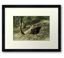 abandoned cottage in the mountain Framed Print