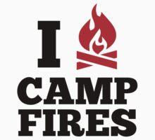I Love Campfires by DesignFactoryD