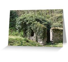 abandoned cottage in the mountain Greeting Card