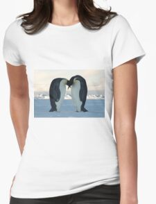 Emperor Penguin Courtship Womens Fitted T-Shirt