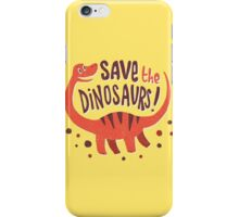 Save the Dinosaurs iPhone Case/Skin