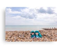 Blythes on the beach Canvas Print