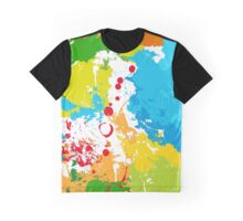 Multicolor abstract spots, brightly colored lines Graphic T-Shirt