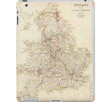 Vintage Map of England (1837)  iPad Case/Skin