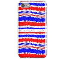 Red White Blue Waving Lines iPhone Case/Skin