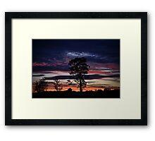 Silverdale Sunset (7), NSW, Australia Framed Print
