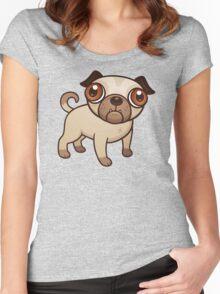 bulldog cute vector Women's Fitted Scoop T-Shirt