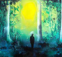 Spray Paint Art- Emerald Forrest by Annika Thurgood