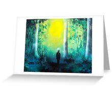 Spray Paint Art- Emerald Forrest Greeting Card