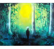 Spray Paint Art- Emerald Forrest Photographic Print