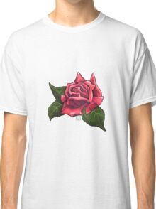 Painted Red Rose Classic T-Shirt