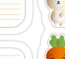 Kids name tags with cute bunnies Sticker