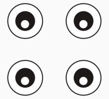 Cartoon Eyes Pattern Kids Tee