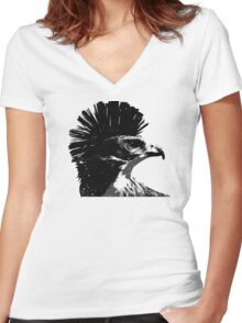 MoHawk Women's Fitted V-Neck T-Shirt