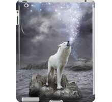 Stars Lie Hidden In Your Soul (Wolf Howl Galaxy) iPad Case/Skin