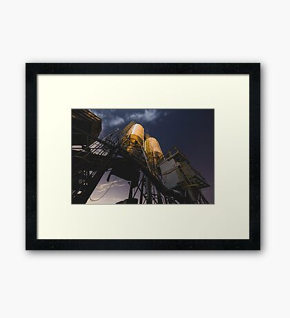 Abandoned Cement Factory Framed Print