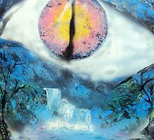 Spray Paint Art- Eye See You by Annika Thurgood