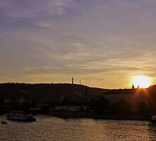 Vltava Sunset by Astrid Ewing Photography