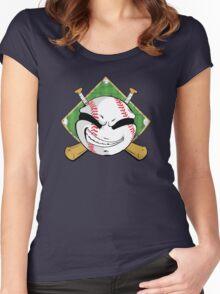 Baseball Logo Women's Fitted Scoop T-Shirt