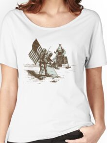 Apollo Moon Landing Vintage Space Cartoon Women's Relaxed Fit T-Shirt