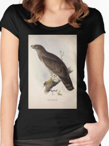 John Gould The Birds of Europe 1837 V1 V5 013 Short Toed Eagle Women's Fitted Scoop T-Shirt