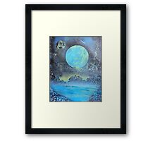 Spray Paint Art- Two Moons Framed Print