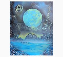 Spray Paint Art- Two Moons Unisex T-Shirt